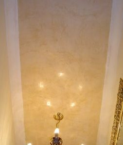 Ceiling Colour Raw Sienna Image Courtesy of AR Plastering