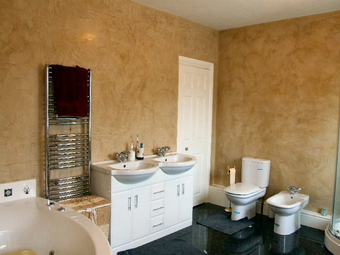 This Bathroom was decorated using Catkin colour.