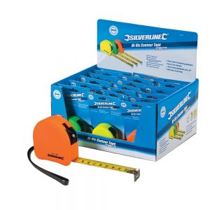 Silverline Tape Measure - (3m/5m/8m)