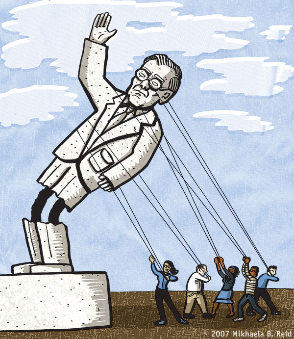 Downfall of Rumsfeld, cartoon by Mikhaela