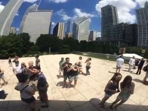 Nós no feijão de Chicago