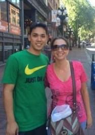 Gastwon em Vancouver com o Iudy