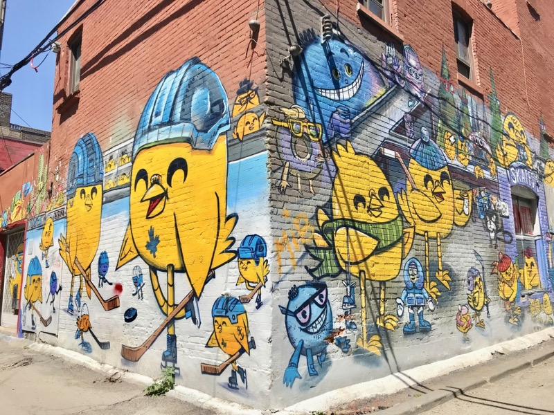 Grafitti Alley em Toronto