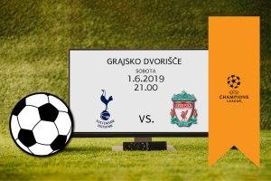 Ogled tekme finala Lige prvakov na Grajskem dvorišču