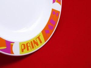 Printed plastic plate