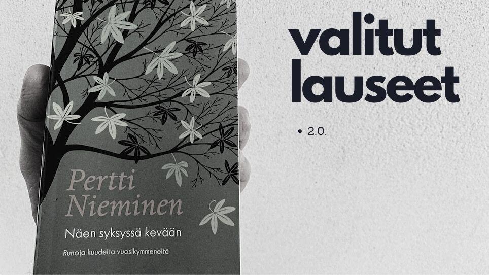 Parta kasvaa Pertti Niemisen Niin kiire tässä elämässä -runokokoelmassa