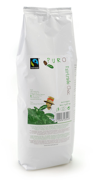 1 kilo Puro Fairtrade Belgian Hot Chocolate