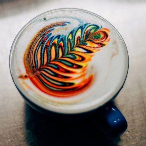 Smuk latte art fra ibrewcoffee