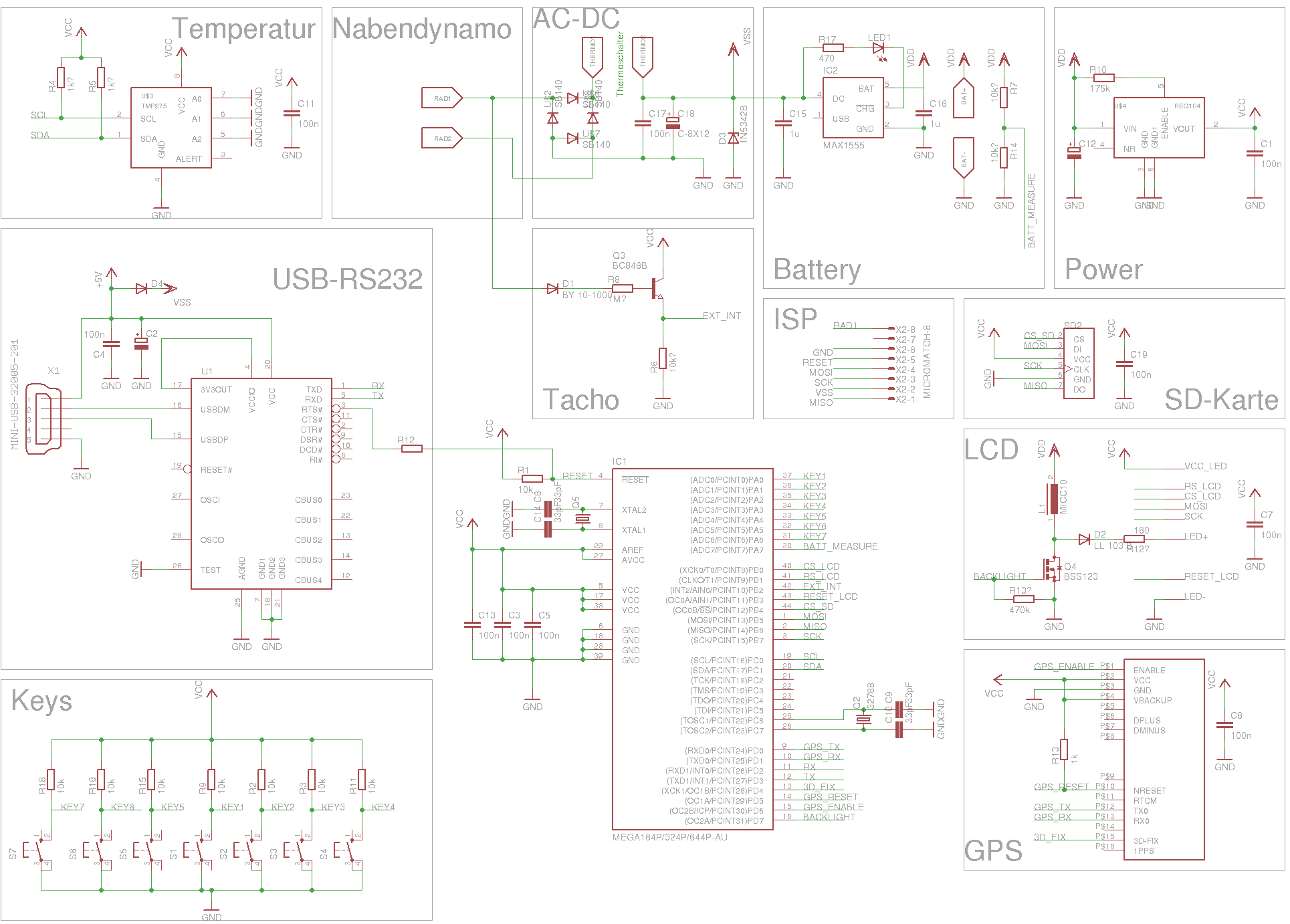Schaltplan Fahrradcomputer