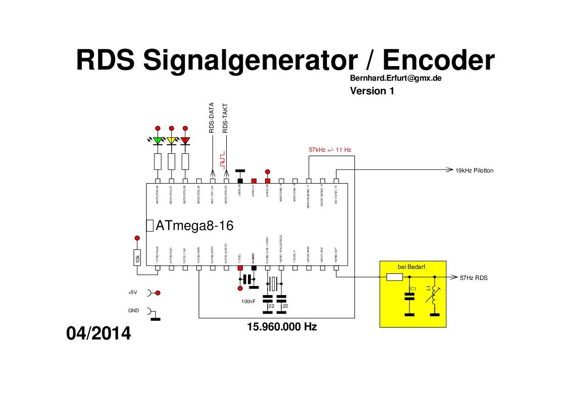 Rds Encoder Signalgenerator Testgenerator Testsender