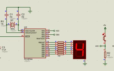 PIC16 contador hexadecimal controlado por pulsadores
