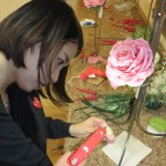 DIY creating Glamelia rose petal bouquet