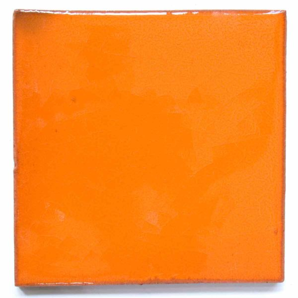orange hand made tiles