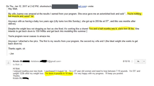 Underground Fat Loss Manual customer reviews