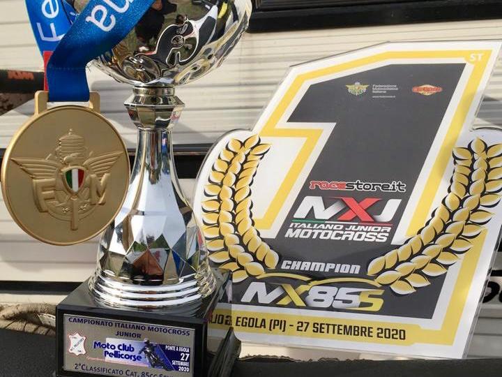 Alfio Pulvirenti campione italiano di motocross Junior Senior 85