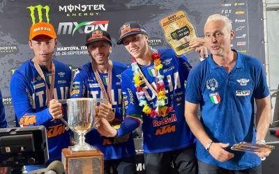 Italia campione del mondo di motocross a squadre al Nazioni (MxoN)