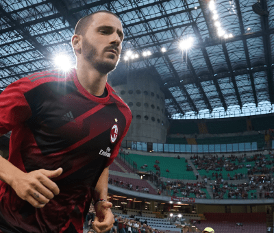 Leonardo Bonucci entra a San Siro