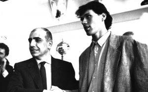 Adriano Galliani e Marco van Basten nel giorno del suo arrivo al Milan