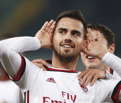 L'esultanza di Suso durante Chievo-Milan