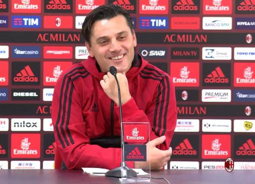 Vincenzo Montella nella conferenza stampa pre partita di Sassuolo-Milan
