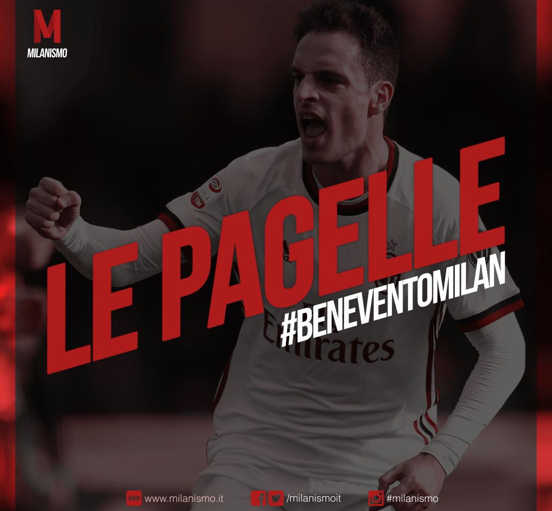 Le pagelle di Benevento-Milan, quattordicesima giornata di Serie A 2017/2018 terminata sul risultato di 2-2