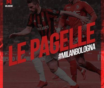 Le pagelle di Milan-Bologna, sedicesima giornata di Serie A 2017/2018 terminata sul risultato di 2-1