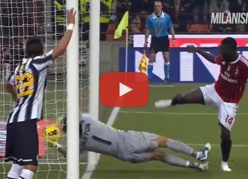 Il clamoroso gol annullato a Sulley Muntari in Milan-Juventus del 25 febbraio 2012, commentato da Mauro Suma.