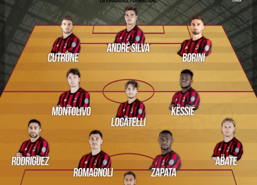 La probabile formazione rossonera verso Milan-Ludogorets, sedicesimi di Europa League 2017-18