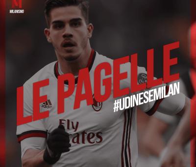 Le pagelle rossonere di Udinese-Milan, ventitreesima giornata di A conclusa col risultato di 1-1