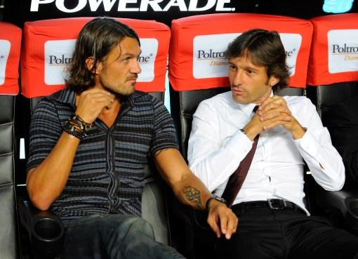 Paolo Maldini e Leonardo.