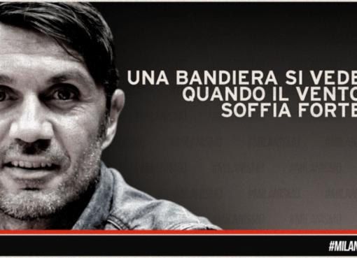 """""""Una bandiera si vede quando il vento soffia forte"""": Paolo Maldini torna al Milan"""