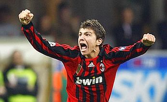AC Milan Paloschi celebrates after scoring against Sampdoria during Italian Serie A match in Milan