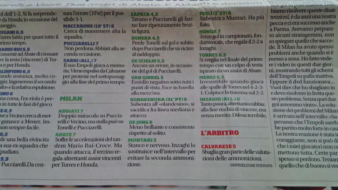 pagella corriere
