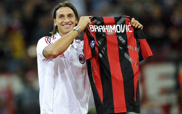 AC Milan's Swedish forward Zlatan Ibrah