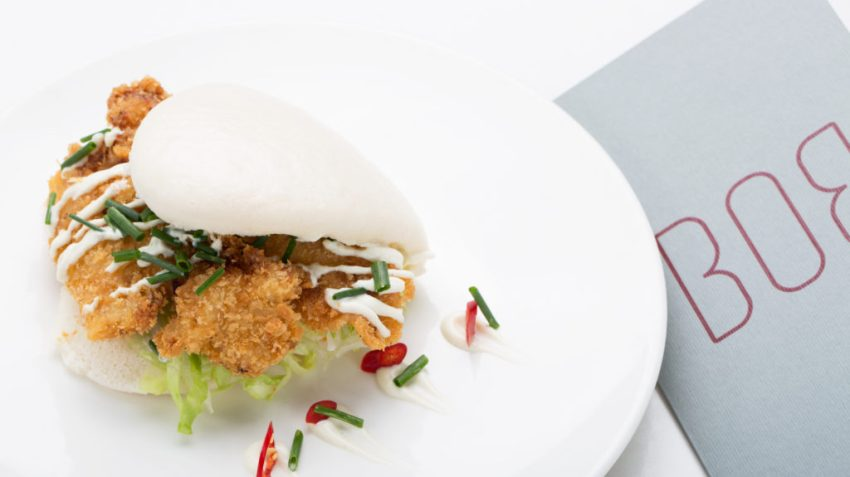 Da Bob il bao, panino cinese, può essere farcito da un mix di saporiti ingredienti