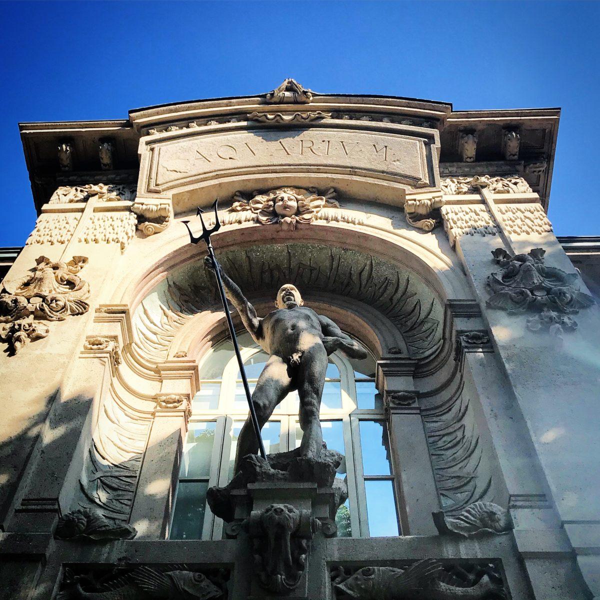 L'ingresso dell'Acquario Civico di MIlano in pieno stile Liberty