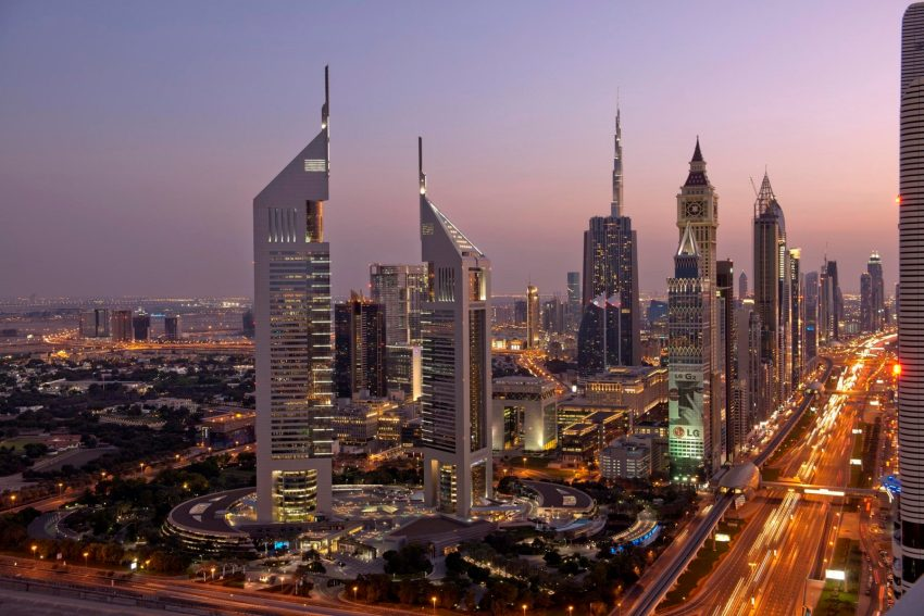 I grattacieli che disegnano lo skyline di Dubai