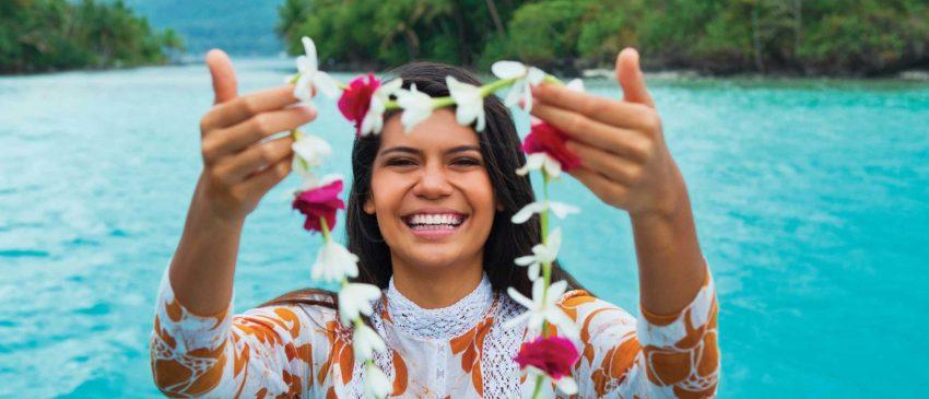 La calda accoglienza di Tahiti nei volti degli abitanti