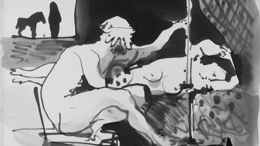 Pablo Picasso (1881-1973), L'atelier il pittore e la modella. Paris, Musée national Picasso