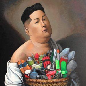 Il leader nordcoreano nei tratti dello street artist calabrese