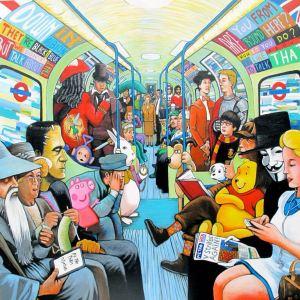 Visione da street artist della vita metropolitana