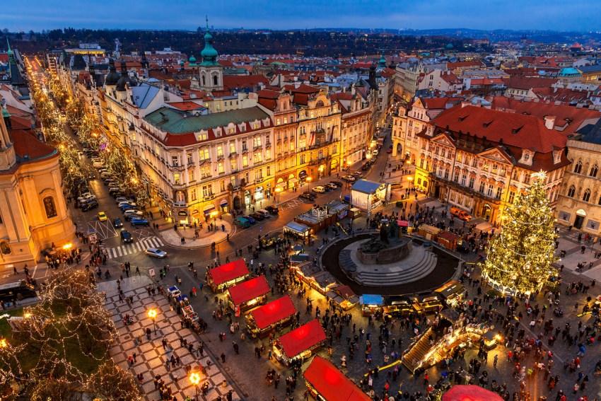 Il centro di Praga visto dall'alto