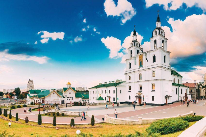 La Cattedrale dello Spirito Santo è uno dei principali luoghi di interesse di Minsk, capitale della Bielorussia