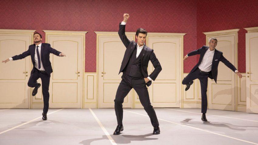 Roberto Bolle insieme a Luca e Paolo a Danza con me