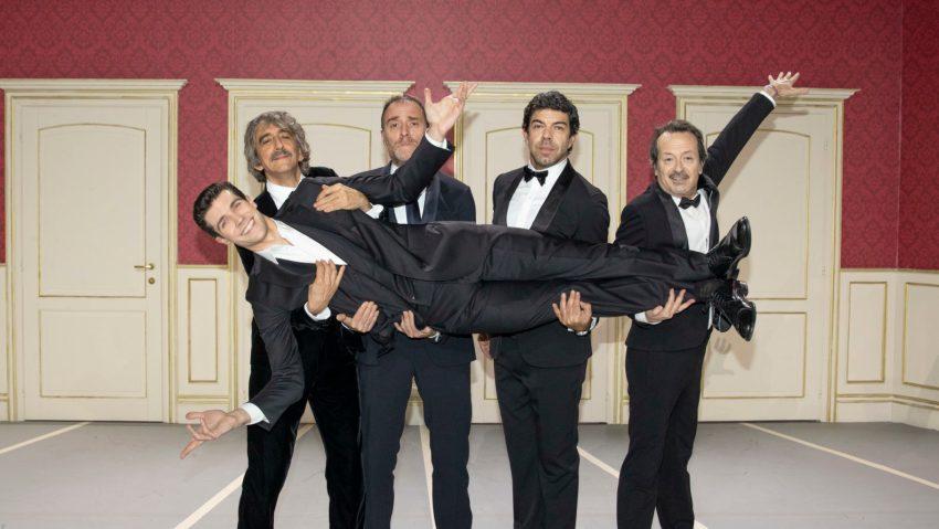 Roberto Bolle insieme a Sergio Rubini, Valerio Mastandrea, Pierfrancesco Favino e Rocco Papaleo a Danza con me