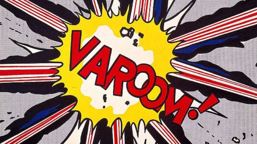 Roy Lichtenstein, Varoom, tra le opere della mostra Pop Art, a Palazzo Reale nel 2020