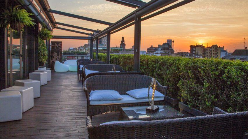 Ecostenibilità, il primo eco hotel milanese propone aperitivi green sulla sua terrazza come inizia la bella stagione