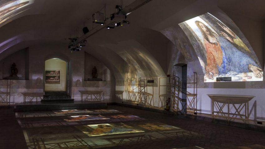 Leonardo & Warhol, la mostra immersiva The genius experience, Cripta di San Sepolcro @Scalco