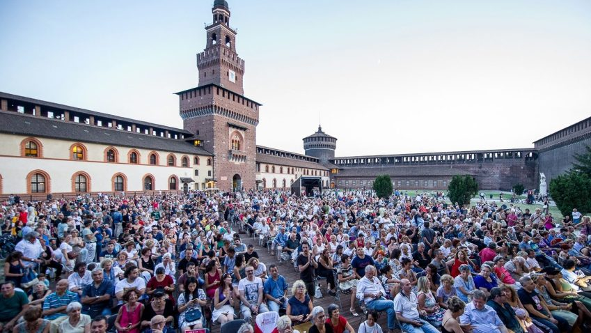 Agosto 2019 a Milano Il castello sforzesco