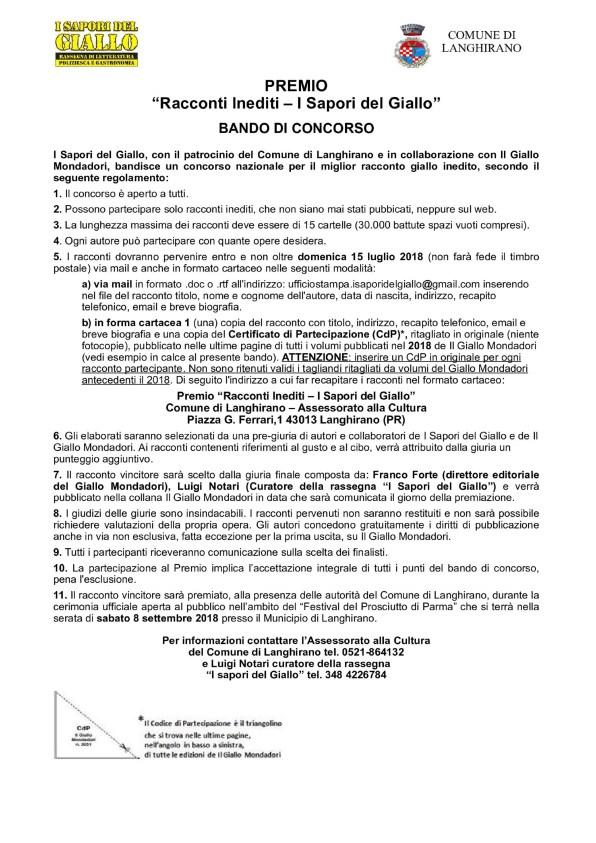 Premio_Racconti_Inediti_I_Sapori_del_Giallo_2018_Bando_Concorso